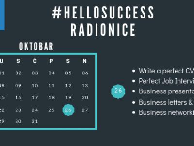 Radionice HELLOSUCCESS – oktobar 2019
